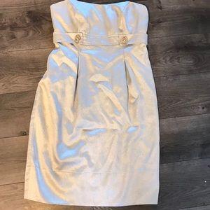David's bridal women's size 4 champagne dress